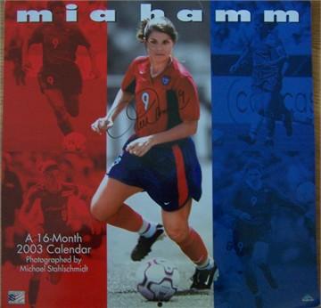 mia hamm soccer. Mia Hamm autographed 2003