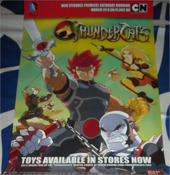 Thunder Cats 2012 on Thundercats 2012 Promo 11x17 Inch Promo Poster Cartoon Network Bandai