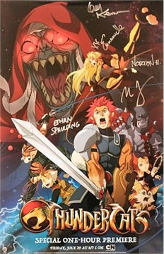 Thundercats 2011 Poster on Thundercats Autographed 2011 Comic Con Poster  Emmanuelle Chriqui